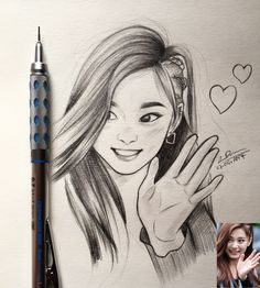 huskyTzu on - Girl Drawing Sketches, Girly Drawings, Kpop Drawings, Art Drawings Sketches Simple, Anime Girl Drawings, Sketch Art, Drawings Of Girls, Girl Sketch, Abstract Pencil Drawings
