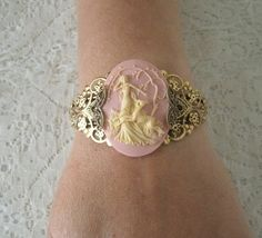 Goddess Diana Cuff Bracelet, wiccan jewelry, pagan jewelry, wicca jewelry, goddess jewelry, witch, witchcraft, magic, wiccan bracelet by Sheekydoodle on Etsy