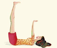 Il pilastro. A terra, sulla schiena, si sollevano gambe e braccia perpendicolari al busto, si piegano le mani ai polsi e i piedi alle caviglie (piedi a martello), immaginando che sui palmi delle mani e sulle piante dei piedi, si sorregga il mondo. Si rimane nella posizione, a lungo, con la schiena rilassata, gambe e braccia tese. Il pilastro allevia i gonfiori degli arti inferiori dovuti alla cattiva circolazione, rilassa profondamente la schiena e rinforza i muscoli del ventre.