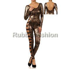 Sexy Glanz metallic Leopard Catsuit mit offenen Seiten #Stretch #Glanz #Wetlook #Frauen #Woman #Catsuit #Anzug #metallic #leopard #Overal #offen 32.92 EUR inkl. 19% MwSt. zzgl. Versand
