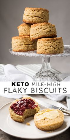 Low Carb Breakfast Recipes – The Keto Diet Recipe Cafe 90 Second Keto Bread, Best Keto Bread, Bread Diet, Flaky Biscuits, Keto Biscuits, Starting Keto Diet, Biscuit Recipe, Dough Recipe, Sans Gluten