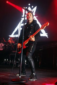 Pete Wentz of Fall Out Boy performs at The Liacouras Center at Temple University in Philadelphia on September 8.