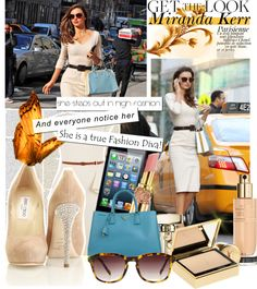 """Get the look: Miranda Kerr"" by klaudiahalasi ❤ liked on Polyvore"