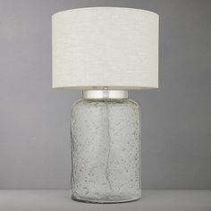 Buy John Lewis Agnes Textured Glass Lamp Base Online at johnlewis.com