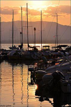 Coucher de soleil / lac Leman