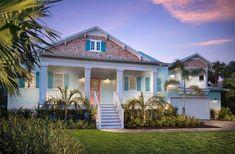 Boca Bay Landing - Coastal Home Plans Cottage Style House Plans, Coastal House Plans, Beach House Plans, House Plans One Story, Coastal Homes, Beach House Decor, Beach Homes, Coastal Living, Farm House