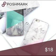 ⭐️SALE- Marble Cell Case  Teal-- IPhone 6 Plus (1 available)                                            ⭐️Pink-- IPhone 6 / 6S (2 available) Other