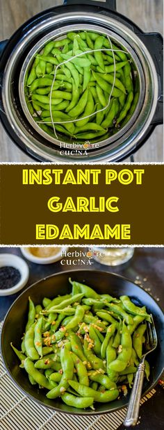 Use the Instant Pot to make steamed edamame; a great snack or starter for an Asian meal. Make it even more delicious by adding garlic and chili flakes. 10 minute recipe that you need to check out! Garlic Edamame, Edamame Beans, Rice Instant Pot Recipe, Guacamole, Chili, Spicy, Dinner Recipes, Healthy Recipes, Kid Recipes