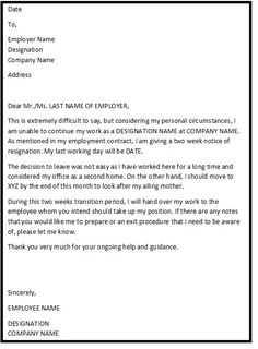 Resignation letter format with reason describing the reason of resignation letters or resign letters are a medium of communication from employee to the employer conveying hisher intent to resign from the organization expocarfo Image collections