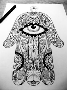 finished Hamsa Hand