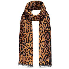 Animal Stole (€815) ❤ liked on Polyvore featuring accessories, scarves, leopard shawl, leopard print shawl, animal scarves, leopard scarves and wrap shawl