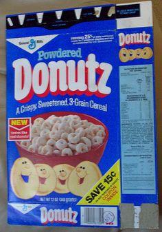 1981 General Mills DONUTZ cereal by poptartsbox, via Flickr