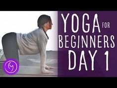 Yoga For Beginners (15 minute) 30 Day Challenge Day 1 | Fightmaster Yoga Videos - YouTube