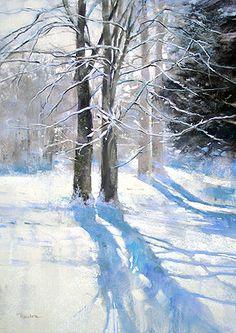 color-shadows. love it. /// Snowfall -Barbara Benedetti Newton