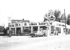 Lomas Supertest & Hardware, Highland Creek , Old Kingston Road late Bruce Thompson's 1968 Charger parked on left and Bruce standing in the. Scarborough Toronto, Kingston, Looking Back, Hardware, Urban, Park, History, Historia, Parks