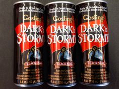 Gosling's Dark and Stormy single serve cans. Rum and ginger beer. Now at Nephew's!