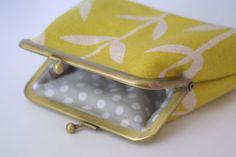Orla purse in lemon by ThirtyfiveFlowers on Etsy, £16.00