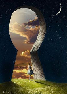 The lock to my imagination - by Kinga Britschgi