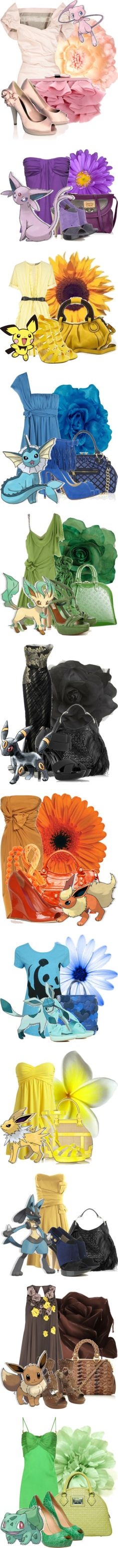 """""""Pokemon and clothes. . .really random"""" by brightheart ❤ liked on Polyvore"""
