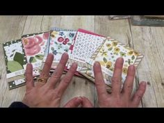 Check out how easy these GORGEOUS cards are to make using the English Garden DSP…