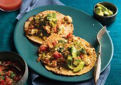 Breakfast Tacos with Cheesy-Hemp-Scrambled Tofu Tofu Recipes, Mexican Food Recipes, Whole Food Recipes, Cooking Recipes, Healthy Recipes, Vegetarian Times, Vegetarian Entrees, Vegetarian Cooking, Tofu Dishes