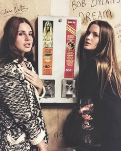 Lana Del Rey and Cece Mallinckrodt at Bruce Wagner's book signing on March 5, 2016 #LDR
