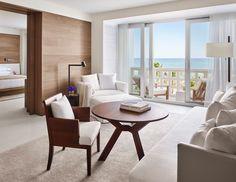 Yabu Pushelberg, The Miami Beach Edition, Oceanfront Suite   luxury boutique hotel