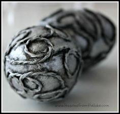 faux silver eggs