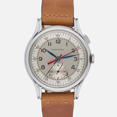 b1f96142e2bd 1947 Longines Single-Button Flyback  Chronostop  Cool Watches