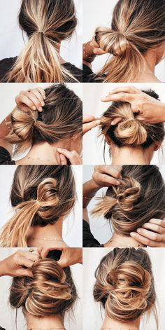 "Love when you find a quick under hairdo. Yeah, it's one part quasi chic twist, and one part ""I swear I didn't sleep in this overnight and was too lazy to undo my hair and… # lazy Hairstyles Hot Mess Hair Medium Length Hairstyles, Medium Length Updo, Updos For Medium Length Hair Tutorial, Shoulder Length Hairstyles, Hair Looks, Hair Lengths, Hair Trends, Hair Inspiration, My Hair"