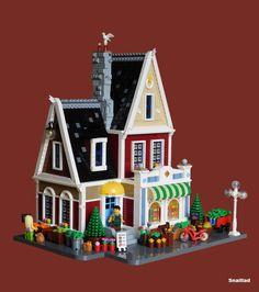 Charming House, Lego Modular, The Brethren, Lego Moc, Cool Lego, Lego Building, Color Shapes, Everyday Objects, Lego Creations