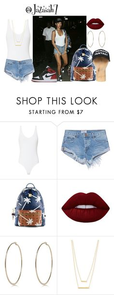 """""""Untitled #936"""" by jazaiah7 ❤ liked on Polyvore featuring ATM by Anthony Thomas Melillo, OneTeaspoon, NIKE, MCM, Lime Crime, River Island and Jennifer Zeuner"""