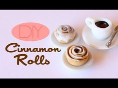 ▶ Cinnamon Rolls - Polymer Clay Pastry Tutorial - YouTube