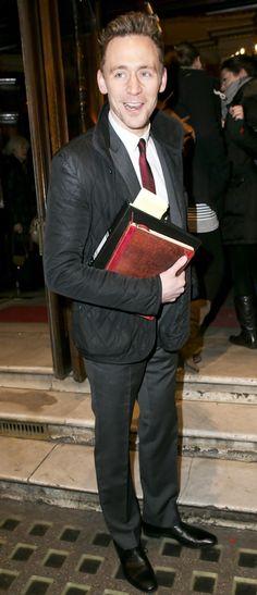 Tom Hiddleston- with his iPad Book Book