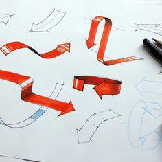 Arrows for my workshop tomorrow. #designsketching #sketch #arrows #copic…: