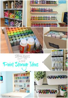Paint Storage Ideas and Organization -