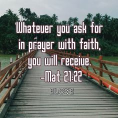 Pray and you will se