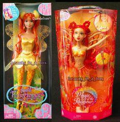 Fairytopia Sunburst Magic of the Rainbow Fairy Dandelion Barbie Doll 2 Redheads