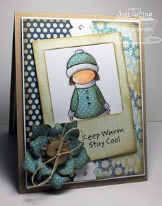Featuring:  Pure Innocence Warm Wishes!  so cute...love the Paper piecing and also love Pure Innocence images