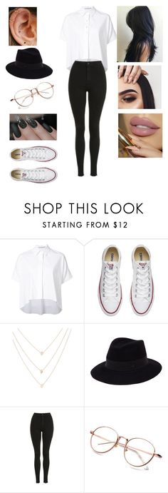 """""""Untitled #2952"""" by vanessa898 ❤ liked on Polyvore featuring Alice + Olivia, Converse, Accessorize, Maison Michel and Topshop"""