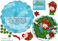 Over the edge rocker Christmas Elf and Wreath on Craftsuprint Now available for download!