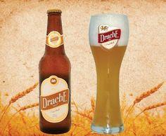 Cerveja Drache Bier Weiss, estilo German Weizen, produzida por Cervejaria Nordeste, Brasil. 4.5% ABV de álcool.