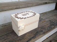 personalized shabby chic recipe box rustic recipe box by PineNsign