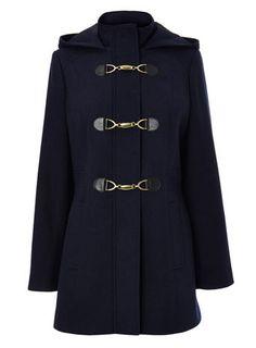 Navy Duffle Coat - duffle coats - coats  jackets  - Women