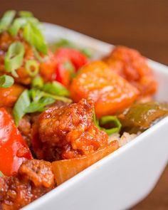 Make life a little more sweet with this Sweet & Sour Pork. Pork Recipes, Asian Recipes, Chicken Recipes, Cooking Recipes, Healthy Recipes, Chinese Recipes, Recipies, Asian Foods, Pork Meals