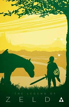 The Legend of Zelda. Beautiful artwork with Link, Epona, and Navi. In the background you can see Hyrule castle to the left, and Death mountain to the right. Poster Zelda, Legend Of Zelda Poster, The Legend Of Zelda, Twilight Princess, Link Lobo, Fan Art, Link Zelda, Charlie Chaplin, Breath Of The Wild