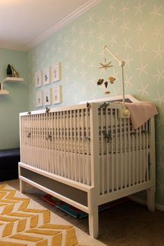 Wall pattern - Olivia's Caribbean-Inspired Nursery Nursery Tour | Apartment Therapy