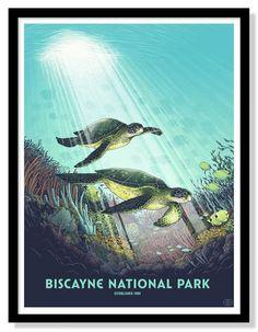 Biscayne National Park Poster (Large)