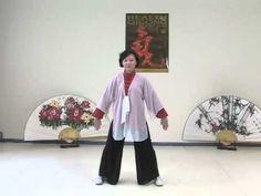 Tai chi 16 Form Yang style Names of moves in Español: 1. Posición inicial, Inicio del Tai chi 2. El caballo salvaje mueve la crin 3. La cigüeña blanca abre s...