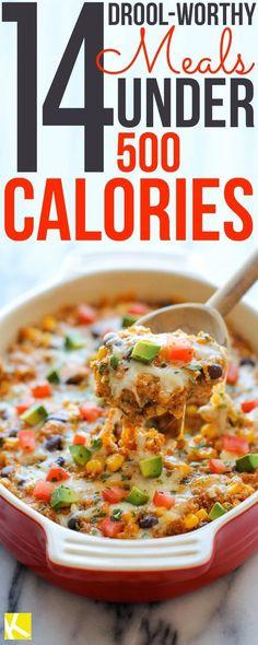 14 Drool-Worthy Meals Under 500 Calories #500CalorieDiets